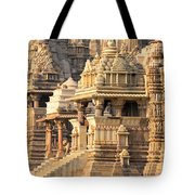 Khajuraho Temple, Chhatarpur District Tote Bag