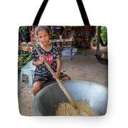 Khmer Girl Makes Sugar Cane Candy Tote Bag