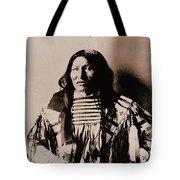 Kicking Bear Indian Chief Tote Bag