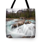 Kicking Horse River Cascades Tote Bag