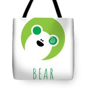 Kids Bear Poster Tote Bag