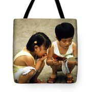 Kids In China 1986 Tote Bag