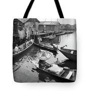 Waterways And Canoes Tote Bag