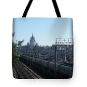 Moscow Kievskaya Train Yard Tote Bag