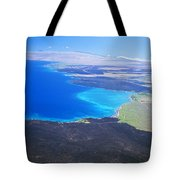 Kiholo Bay, Aerial View Tote Bag