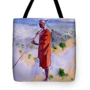 Kikuyu In A Red Cloak Tote Bag