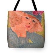 Kim Alexis In Flowery Hat Tote Bag