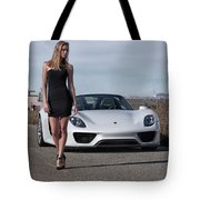 #kim And #porsche #918spyder #print Tote Bag