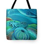 Kina Sea Anemone With  Stingray By Reina Cottier Tote Bag