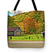 Kindred Barns Painted Tote Bag by Steve Harrington