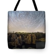 King And Queen Star Trails Tote Bag