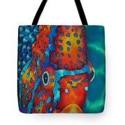 King Angelfish Tote Bag by Daniel Jean-Baptiste