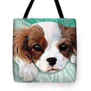 Spaniel Puppy Resting Tote Bag