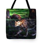 King Cheetah And 3 Cubs Tote Bag