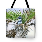 King Fisher Palm Tote Bag