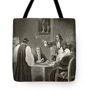 King James II Of England Facing Bishops Tote Bag