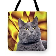 King Kitty With Golden Eyes Tote Bag