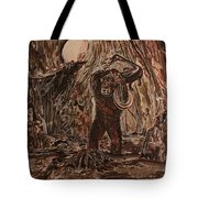 King Kong - Kong Battles A Serpentine Dinosaur Tote Bag