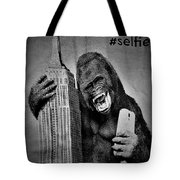 King Kong Selfie B W  Tote Bag