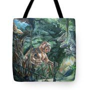 King Kong Vs T-rex Tote Bag