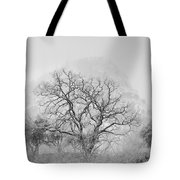 King Mountain Monochrome Tote Bag