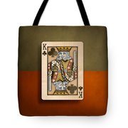 King Of Clubs In Wood Tote Bag
