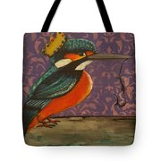 King Of Kingfishers Tote Bag