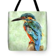 Kingfisher Blue Tote Bag