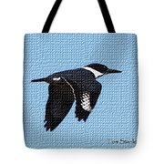 Kingfisher In Flight Tote Bag