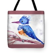 Kingfisher On A Stick Tote Bag