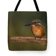 Kingfisher On Sunrise Tote Bag