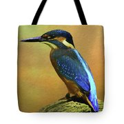 Kingfisher Perch Tote Bag