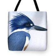 Kingfisher Portrait Tote Bag