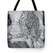 Kingfisher White On Black Tote Bag