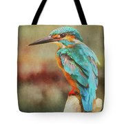 Kingfisher's Perch Tote Bag