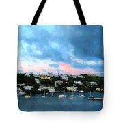 King's Wharf Bermuda Harbor Sunrise Tote Bag