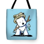 Kiniart Westie Fisherman Tote Bag