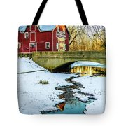Kirby's Mill Landscape - Creek Tote Bag
