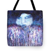 Kiss Of The Silver Moon Tote Bag