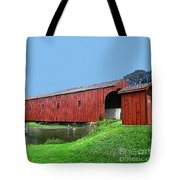 Kissing Bridge Of West Montrose Tote Bag
