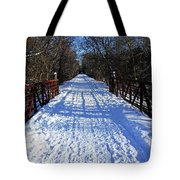 Kissing Bridge Trail Tote Bag