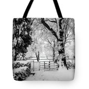 Kissing Gate In The Snow Tote Bag