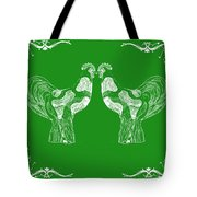 Kissing Roosters 3 Tote Bag