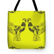 Kissing Roosters 5 Tote Bag
