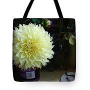 Kitchen Dahlia Tote Bag