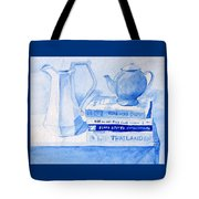 Kitchen In Blue Tote Bag