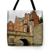 Kitchen Or Wren Bridge And St. Johns College From The Backs. Cambridge. Tote Bag