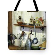 Kitchen With Wire Basket Of Eggs Tote Bag
