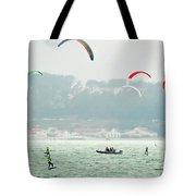 Kiteboarding In The San Francisco Bay Tote Bag