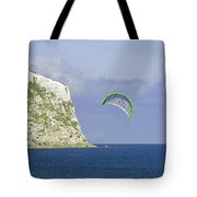Kitesurfer At Yaverland Tote Bag